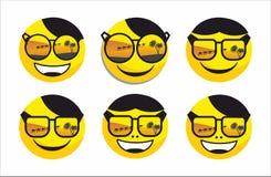Sonrisa en gafas de sol del verano Imágenes de archivo libres de regalías
