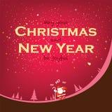 Sonrisa en la estación de la Navidad y del Año Nuevo Imagenes de archivo