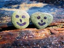 Sonrisa en los guijarros Imagen de archivo