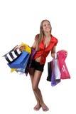 Sonrisa en shoping Imagen de archivo libre de regalías