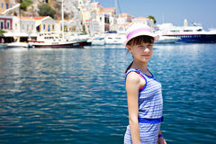 Sonrisa europea joven del adolescente de la muchacha Fotografía de archivo libre de regalías