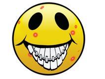 Sonrisa fea Imagen de archivo libre de regalías