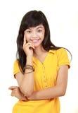 Sonrisa feliz de la chica joven Fotos de archivo
