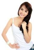 Sonrisa feliz de la chica joven Imágenes de archivo libres de regalías
