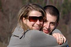 Sonrisa feliz de la familia Imagen de archivo