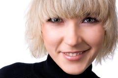Sonrisa feliz de la mujer joven Foto de archivo libre de regalías