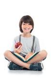 Sonrisa feliz del escolar Fotografía de archivo libre de regalías
