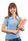 Sonrisa feliz del estudiante femenino Imagen de archivo libre de regalías