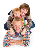Sonrisa feliz del retrato de la familia Foto de archivo