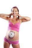 Sonrisa feliz embarazada Fotografía de archivo libre de regalías