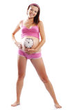 Sonrisa feliz embarazada Foto de archivo libre de regalías