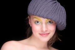 Sonrisa feliz hermosa de la muchacha Foto de archivo libre de regalías