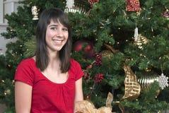 Sonrisa grande de la Navidad Imagen de archivo libre de regalías