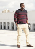 Sonrisa haitiana de moda del hombre Imágenes de archivo libres de regalías