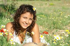 sonrisa hermosa Imagen de archivo libre de regalías
