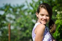 Sonrisa hermosa adolescente fotos de archivo