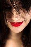 Sonrisa hermosa de la muchacha imagen de archivo