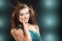 Sonrisa hermosa de la mujer imagenes de archivo