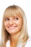 Sonrisa hermosa de la mujer joven Imagenes de archivo