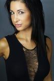 Sonrisa hermosa del brunette Imagen de archivo libre de regalías