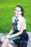 Sonrisa hermosa del estudiante Fotografía de archivo