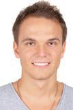 Sonrisa hermosa del hombre joven Imagen de archivo libre de regalías