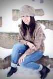 Sonrisa hermosa joven de la mujer Foto de archivo