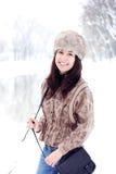 Sonrisa hermosa joven de la mujer Fotografía de archivo libre de regalías