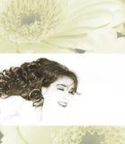 Sonrisa hermosa joven de las mujeres Fotografía de archivo