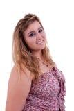 Sonrisa hermosa y grande de la mujer joven Foto de archivo libre de regalías