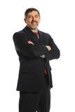 Sonrisa hispánica del hombre de negocios foto de archivo