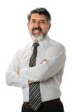 Sonrisa hispánica del hombre de negocios Fotos de archivo libres de regalías