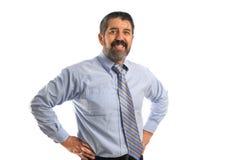 Sonrisa hispánica del hombre de negocios Imagen de archivo