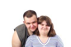 Sonrisa joven de los pares del amor foto de archivo libre de regalías