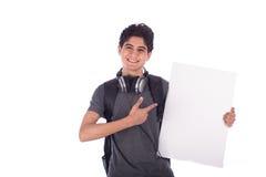 Sonrisa joven del estudiante Imagenes de archivo