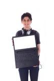 Sonrisa joven del estudiante foto de archivo