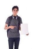 Sonrisa joven del estudiante Imágenes de archivo libres de regalías