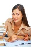 Sonrisa joven del estudiante femenino Imágenes de archivo libres de regalías
