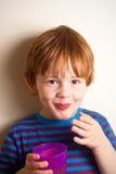 Sonrisa joven del muchacho Imagenes de archivo
