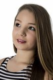 Sonrisa joven hermosa del adolescente del retrato que mira para arriba Imagen de archivo libre de regalías
