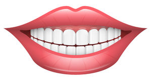 Sonrisa, labios, boca, dientes ilustración del vector