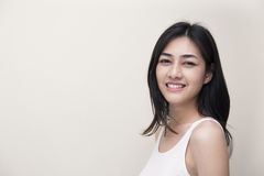 Sonrisa linda de la muchacha Imagen de archivo