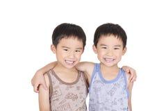 Sonrisa linda de los gemelos Fotografía de archivo libre de regalías