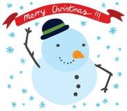 Sonrisa linda del muñeco de nieve Foto de archivo libre de regalías