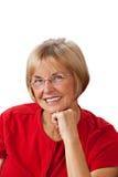 Sonrisa madura de la mujer Fotografía de archivo libre de regalías