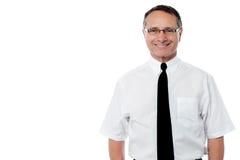 Sonrisa mayor del ejecutivo de operaciones Imagen de archivo libre de regalías