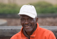 Sonrisa mayor del hombre del afroamericano Foto de archivo