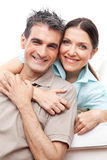 Sonrisa mayor feliz de los pares Imagen de archivo libre de regalías