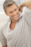 Sonrisa modelo masculina Foto de archivo libre de regalías