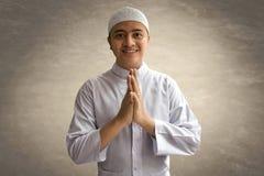 Sonrisa musulmán del hombre Fotos de archivo libres de regalías